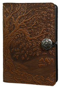 Oberon Tree of Life Refillable Journal Cover in Saddle