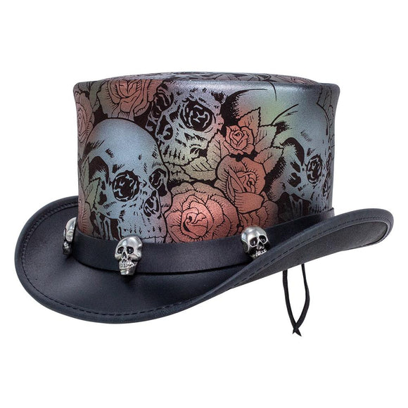Head'n Home Hat Skull 'n Roses Top Hat