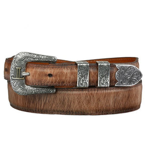 Chacon Goatskin Tapered Belt in Mad Dog Tan