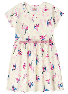 Bird Print Dress - Hopscotch & Kite