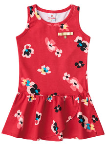 Red Poppy Dress - Hopscotch and Kite