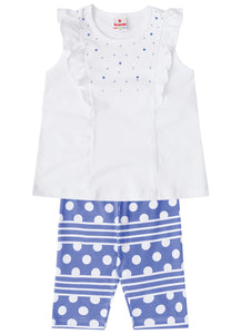 Polka Dot Capri Set - Hopscotch and Kite