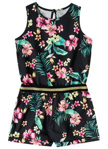 Floral Playsuit in Black - Hopscotch and Kite