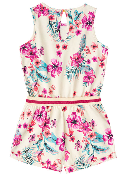 Floral Playsuit - White - Hopscotch and Kite