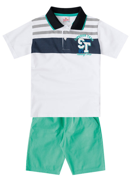 Superior Polo Shirt and Shorts Set - Hopscotch and Kite