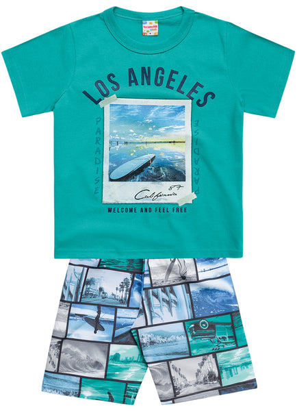 Los Angeles Tee and Shorts Set - Hopscotch and Kite