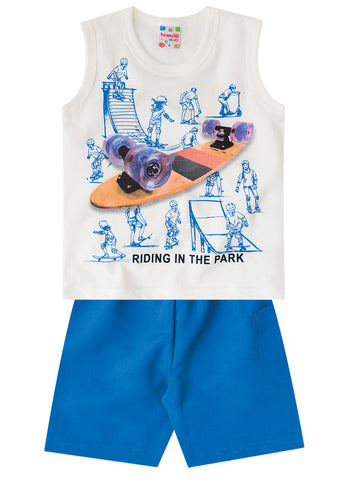 Little Skater Tank and Shorts Set - Hopscotch and Kite
