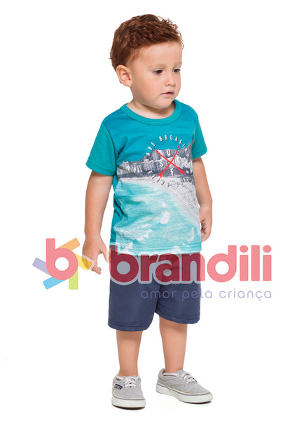 Coastline Printed Tee and Shorts Set - Hopscotch and Kite