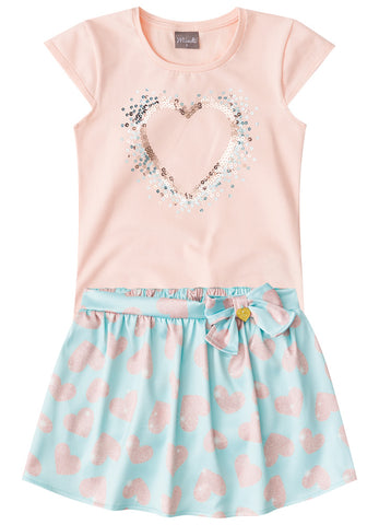 Little Heart Peach Set - Hopscotch and Kite