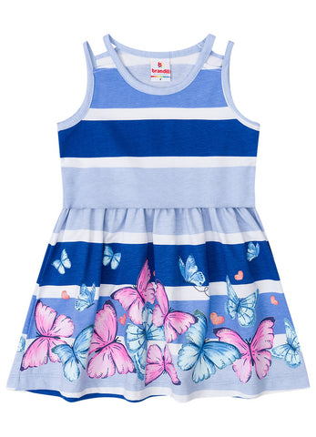 Blue Butterfly Dress - Hopscotch and Kite