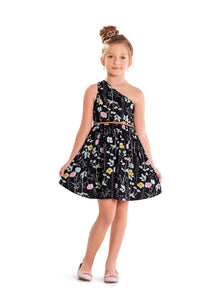 Black Floral Dress by Hopscotch and Kite