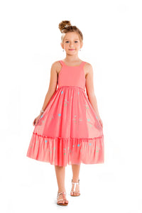 Tulle dress in Flamingo Pink - Hopscotch and Kite