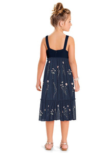 Navy Blue Tulle Dress by Hopscotch and Kite