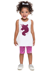 Sparkly Unicorn Top and Shorts Set - Hopscotch and Kite