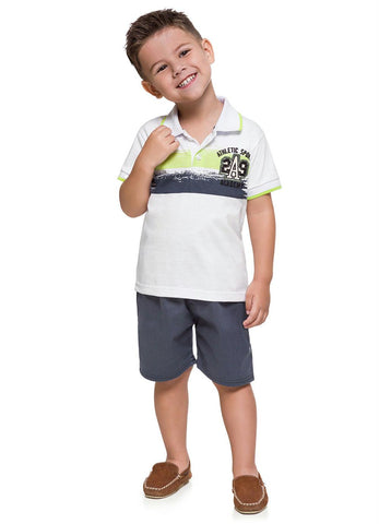 Academy Polo Shirt and Shorts Set - Hopscotch and Kite