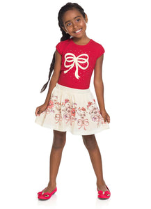 Sparkly Bow Top and Skort Set - Hopscotch and Kite