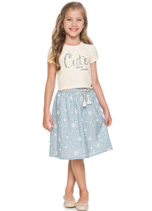 Crop Top & Skirt Set - Hopscotch and Kite