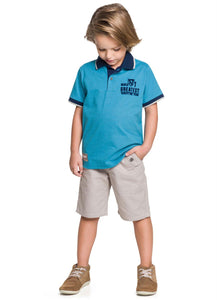 Seattle Polo Shirt and Shorts Set - Hopscotch and Kite