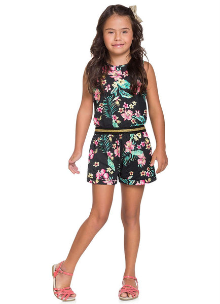 Black Floral Playsuit - Hopscotch and Kite