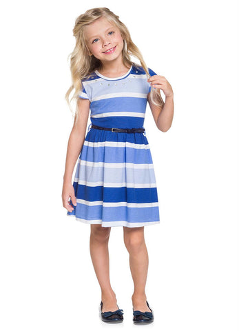 Striped Dress - Blue