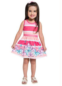 Pink Butterfly Dress - Hopscotch and Kite