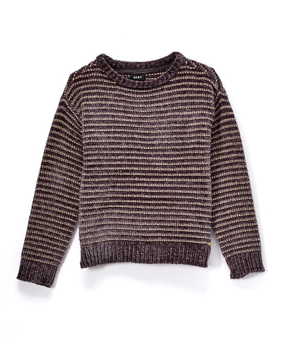 Metallic-Stripe Chenille Jumper