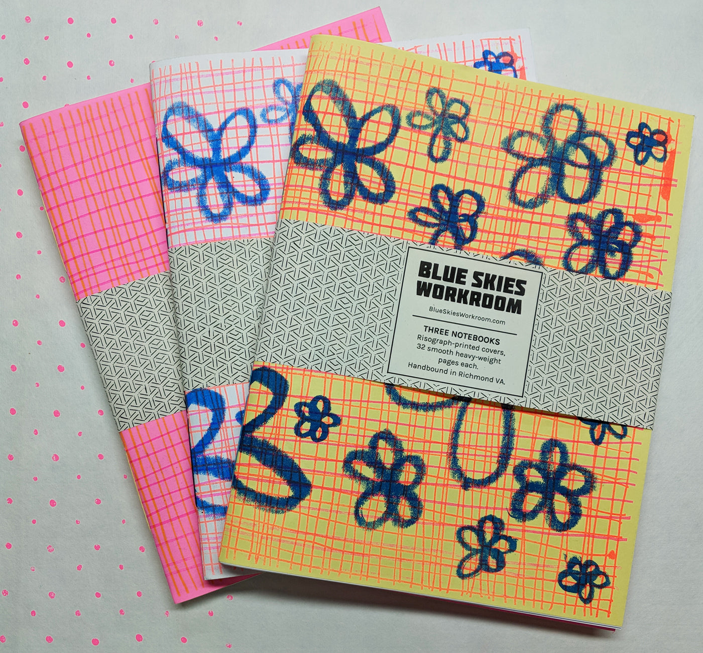 Risograph Notebooks, three pack