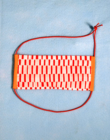 Face Mask - Orange Stutter Stripe