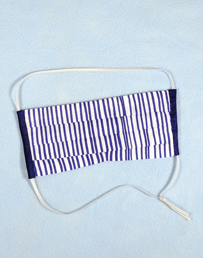 Face Mask - Royal Blue Stripes