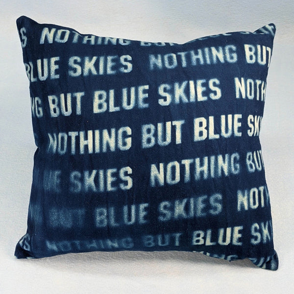 Pillow, Blue Skies Pillow 14.5 inch square #2