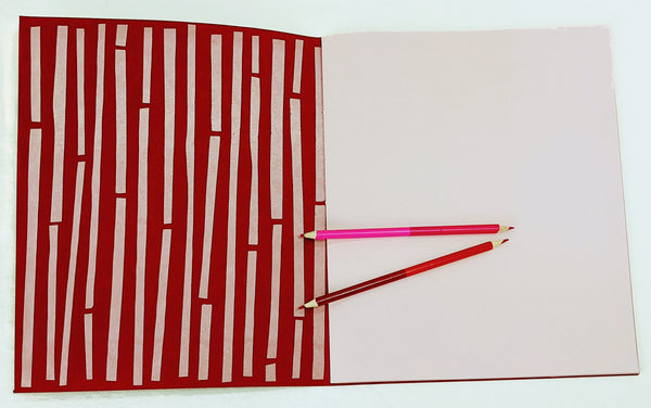 Oversized Notebook with Screenprinted Cover #6