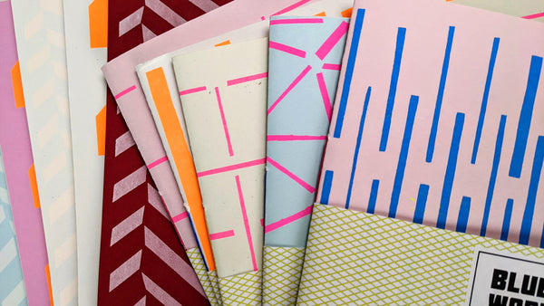 Oversized Notebook with Screenprinted Cover #8