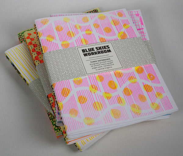 Risograph Notebook Three Pack - available through Penland Gallery