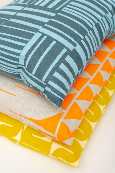 Pillow, Lumbar - Orange on Natural