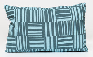 Pillow, Lumbar - Blue on Blue