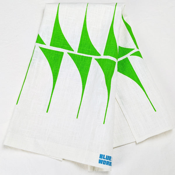 Linen Tea Towel - green