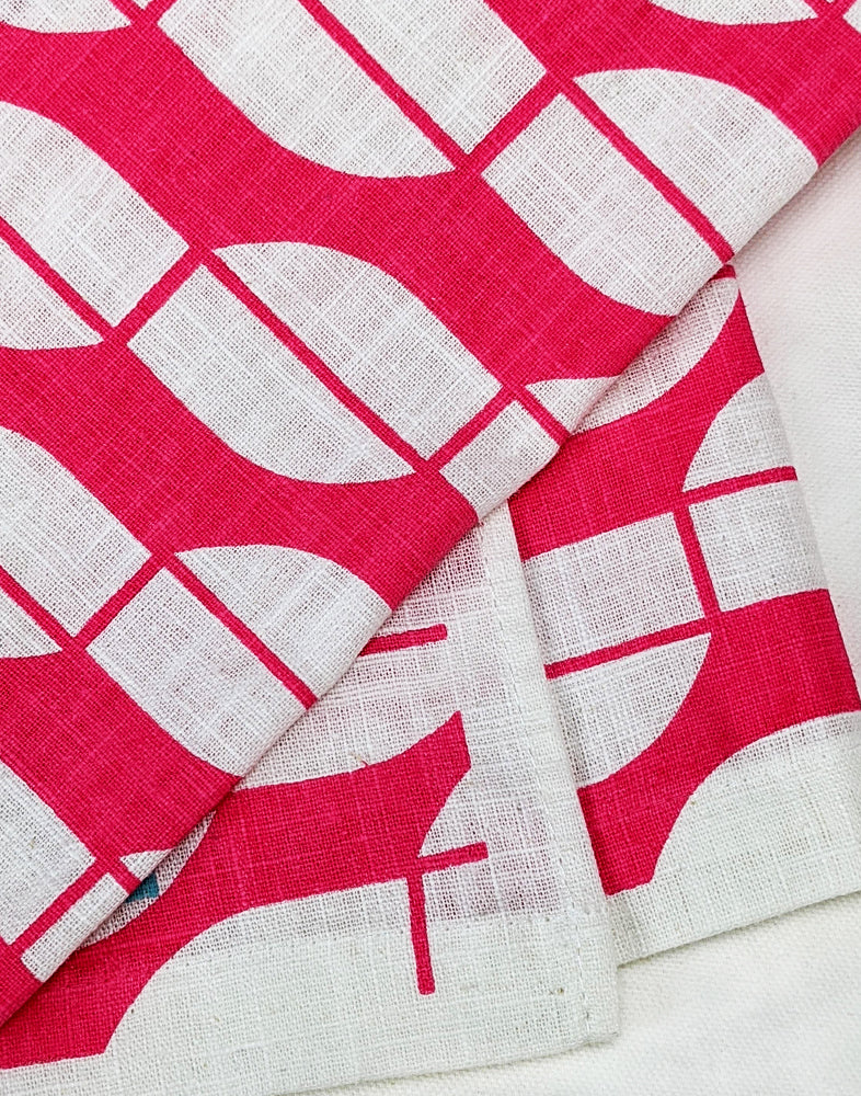 Linen Tea Towel - magenta
