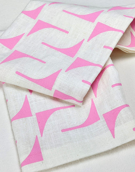 Linen Tea Towel - pink