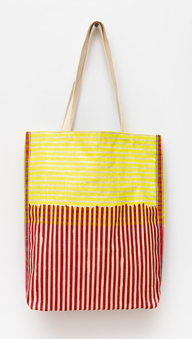 Joy Tote, red & yellow