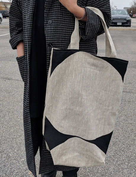 Extra Long Tote - Monk Pattern