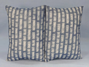 Pillow, Blue Skies Double Cushion Comfort