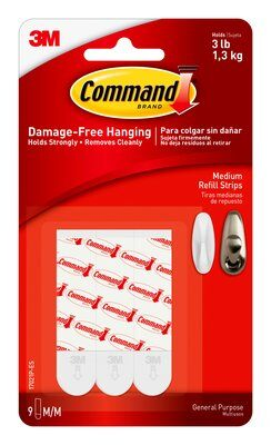 Command™ Medium Refill Strips - Jumbo Pack (Holds upto 1.3kg)