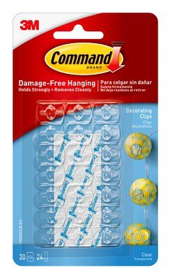 Command™ Clear Décor Clips (Holds upto 225g)