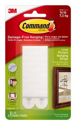 Command™ Large Picture Hanging Strips (Holds upto 7.2kg)