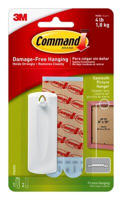 Command™ Sawtooth Picture Hanger (Holds upto 1.8kg)