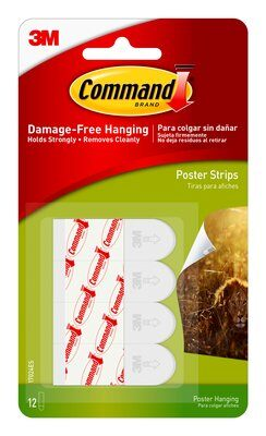 Command™ Poster Strips (Hangs upto 6 posters)