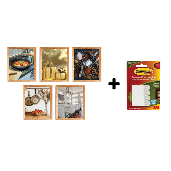 Command - Five Frame Collage with 3M Command Picture Hanging Strips