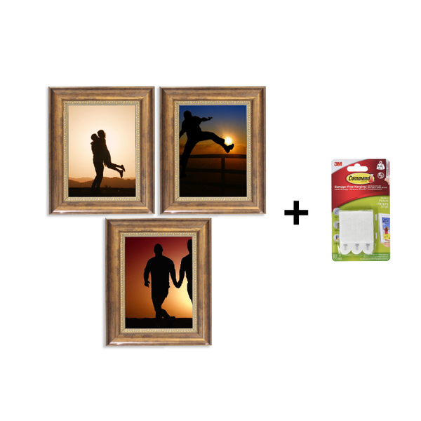 Command - Three Frame Set with 3M Command Picture Hanging Strips