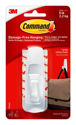Command™ Large Utility Hook (Holds upto 2.2kg)
