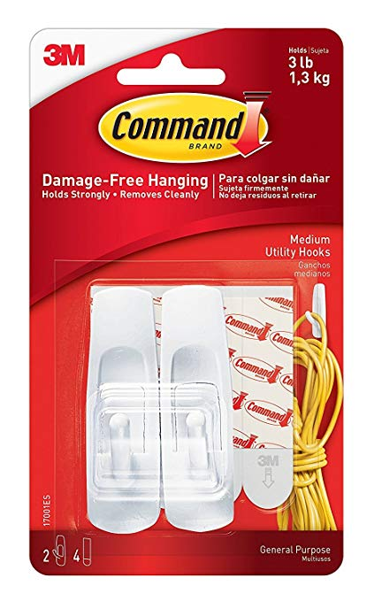 Command™ Medium Utility Hooks (Holds upto 1.3kg)